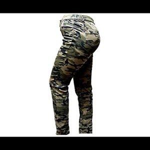 4e09f0461c9 Jack David Pants - JD women Plus Size Stretch Camouflage skinny jeans